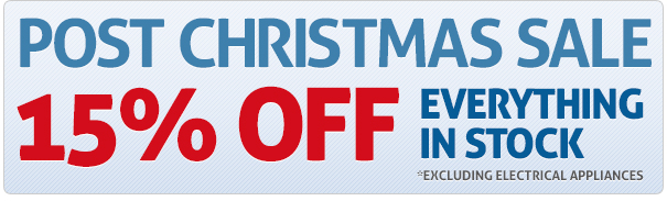 15% off Everything in Stock*