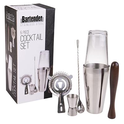 Bartender 5Pce Cocktail Set
